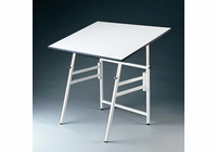 "Alvin� Professional Table, White Base White Top 24"" x 36"""