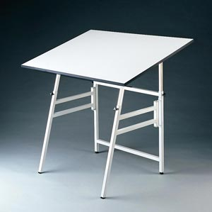 Alvin® Professional Table, White Base White Top 31