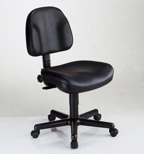 "Alvin Task Chair-""Premo"" Blk Leather"