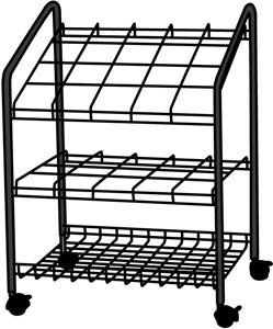 Alvin® Wire Bin Roll File 20 Slots - Click to enlarge