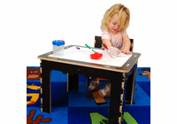 ANATEX Flip Top Dry Erase and Chalk Table with 1 Bench - Natural