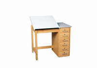 Art/Drafting Table - 36x24x30-1/4 - 6 drawer-17 Wt-150