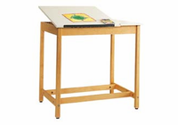 DIVERSIFIED WOODCRAFTS Art/Drafting Table - 36x24x37-21 Wt-70-S