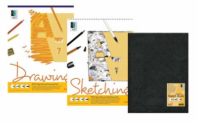 Artists' Value Pack (1 Hard-bound Sketch-book & 2 Drawing Pads)