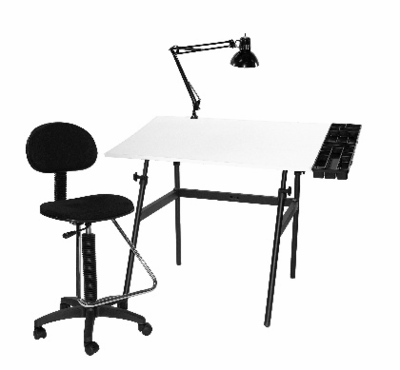 Berkeley 4-pc  Drafting Station Combo