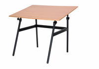 "Berkeley Classic Black Base with 30"" x 42"" Cherrywood C Top"