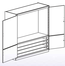 Blank Tool Storage Cabinet