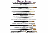 Da Vinci Maestro Kolinsky - Series 10 - Sharp Round Brush Red Sable