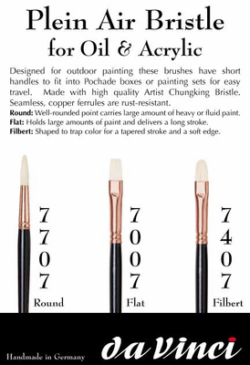 da Vinci Plein Air Bristle Filbert Brush Series-7407