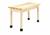 """DIVERSIFIED WOODCRAFTS Plain Apron Table 24""""D x 60""""W x 30""""H table with a Maple top"""