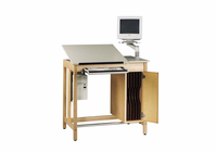 Drawing Table System with Board Storage