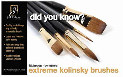 RICHESON Extreme Kolinsky Flat Brushes - Series 7778 - Click to enlarge