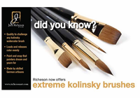 RICHESON Extreme Kolinsky Flat Brushes - Series 7778