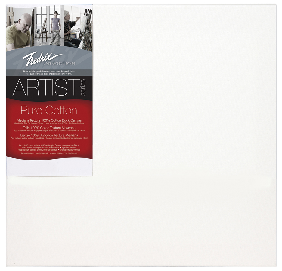 fredrix red label 12 x 12 stretched artist canvas