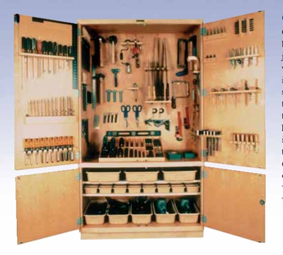 """DIVERSIFIED WOODCRAFTS General Tool Storage Cabinet – 48"""" w/Tools"""