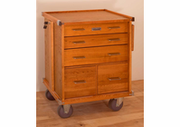 Gerstner International GI-R24 Oak 5-Drawer Roller Cabinet