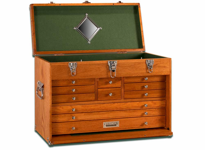 GERSTNER INTERNATIONAL Machinist Oak Tool Chest GI-T24 - Click to enlarge