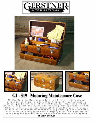 Gerstner International Motoring Maintenance Case / Scale Model Tool Case - Click to enlarge