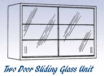 Glass Sliding Door Unit - Wall Mounted Cabinet