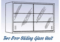 Glass Sliding Door Unit - Wall Mounted Cabinet-12