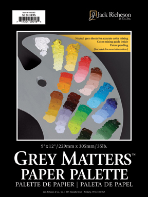 RICHESON Grey Matters Palette Pad 12in. x 16in. - Click to enlarge