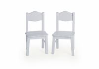 GUIDECRAFT Classic Extra Chairs (set of 2) - Gray