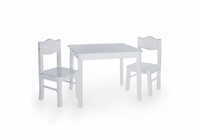 GUIDECRAFT Classic Table & Chair Set - Gray