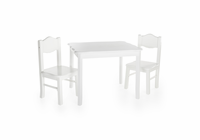 GUIDECRAFT Classic White Table & Chairs Set