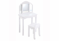 GUIDECRAFT Expressions Vanity& Stool White