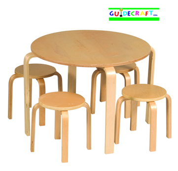 GUIDECRAFT Nordic Table & Chairs (Natural) - Click to enlarge