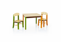 GUIDECRAFT See and Store Table & Chairs Set