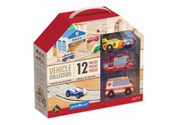 Guidecraft Wooden Vehicle Collection Set of 12