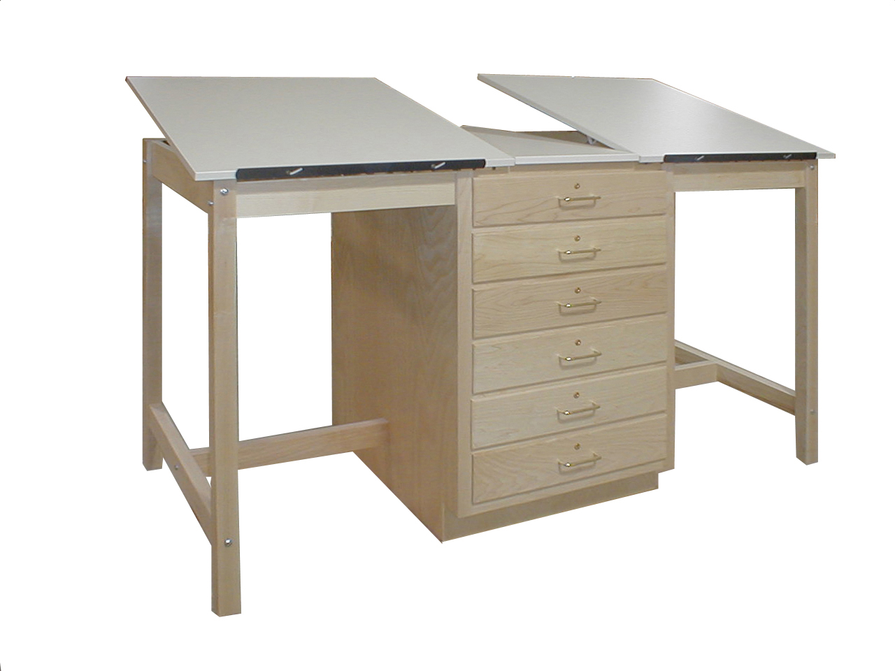 Beau HANN Dual Station Drawing Table, Large 6 Drawer Storage Cabinet. Loading  Zoom