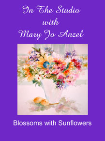 """""""In the Studio with Mary Jo Anzel""""  Watercolor Videos (DVD/VHS) - Click to enlarge"""