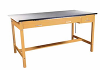 "DIVERSIFIED WOODCRAFTS Instructor's Art/Drafting Table - 72""W"