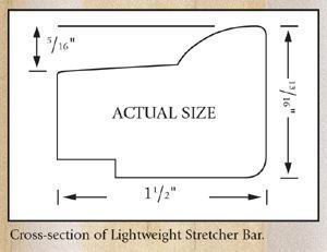 "16"" Jack Richeson & Co. Inc. Lightweight Stretcher Bar #894009"
