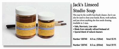 Jack's Linseed Studio Soap (8.5 oz.)