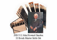 John Howard Sanden 33 Brush Master Sable Set