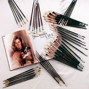 JOHN HOWARD SANDEN Professional Collection BRUSH SET - 47 Pieces - Click to enlarge