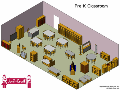 Jonti-Craft Complete KYDZ Classroom - Click to enlarge