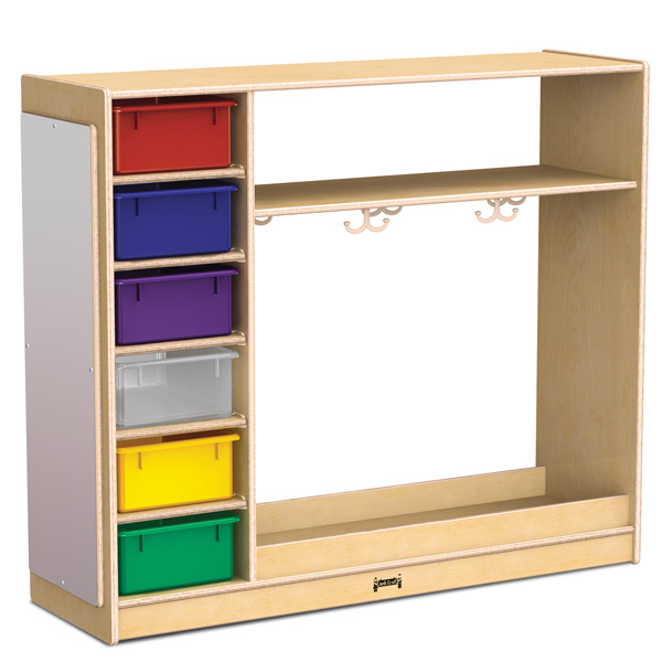 jonti craft dress up storage with colored tubs