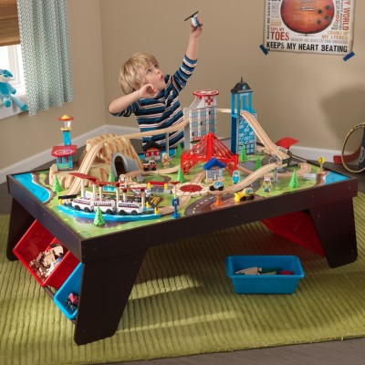 & KIDKRAFT Aero City Train Set u0026 Table