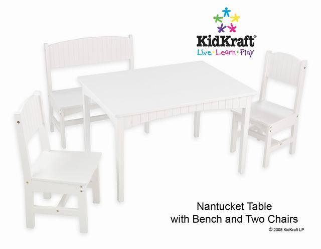 Pleasant Kidkraft Nantucket Table With Bench And 2 Chairs Machost Co Dining Chair Design Ideas Machostcouk