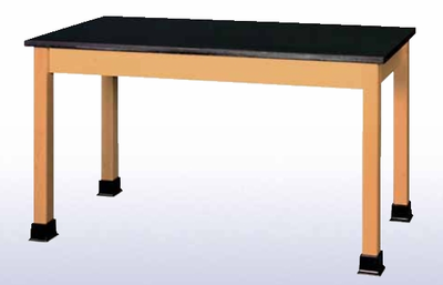 Lab Table with book wells - black plastic lam top-10