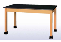 Lab Table with book wells - maple top-8