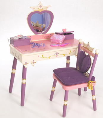 Levels of Discovery PRINCESS VANITY TABLE & CHAIR SET