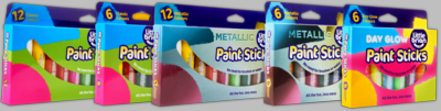 little brian Paint Sticks (Bundle of 12 stick assorted, 12 stick metallic and 6 stick day glow) - Click to enlarge