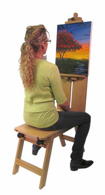 Martin Rolling Wooden Bench Style Easel - Click to enlarge