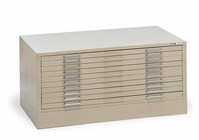 "Mayline� 5-Drawer C-File White Alvin Files-37""X25 3/4""X2"" White"