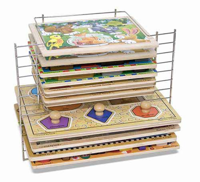 Melissa & Doug Deluxe Wire Puzzle Rack - Click to enlarge
